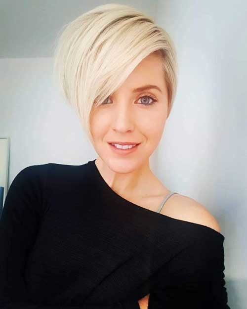 Short-Sassy-Blonde-Hair New Short Haircut Trends Women 2019