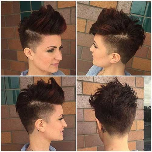 Short-Shaved-Hair-for-Girls Attractive Pixie Haircuts for Beautiful Women