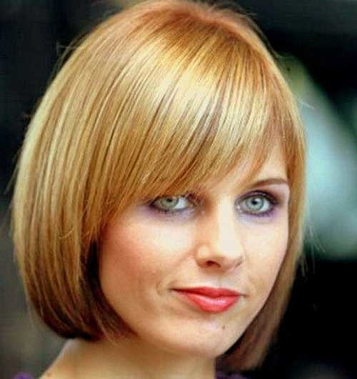 Short-Straight-Side-Swept-Hair-for-Fine-Hairstyle-Summer Short Straight Hairstyles for Fine Hair