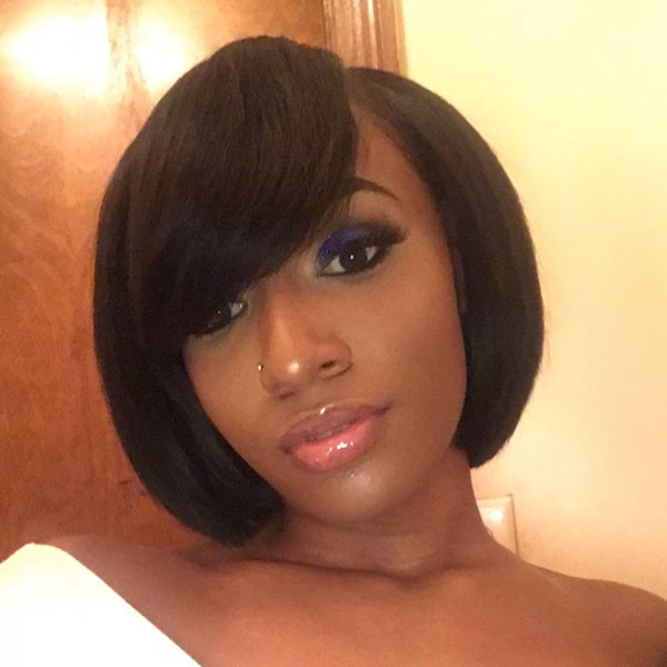Side-Bangs Best Bob Hairstyles for Black Women Pictures in 2019