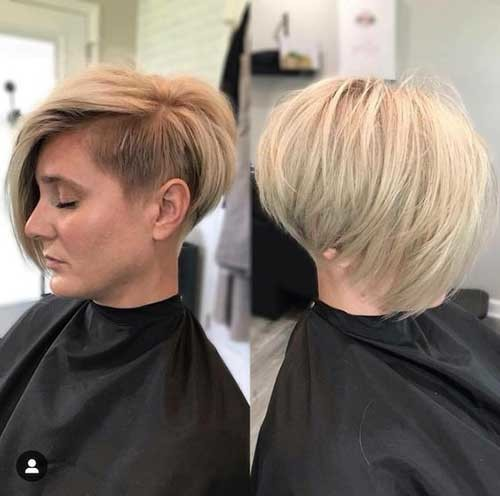 Side-Shaved-Pixie-Bob-Style Pixie Bob Haircuts for Neat Look