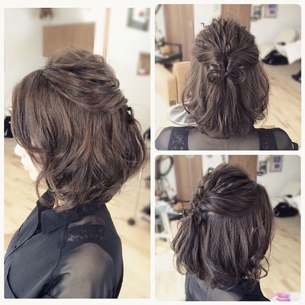 Special-Updo Amazing Braids for Short Hair