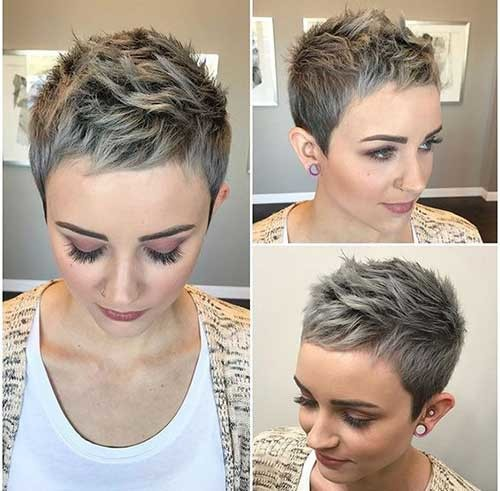Spiky-Pixie-Style New Short Haircut Trends Women 2019