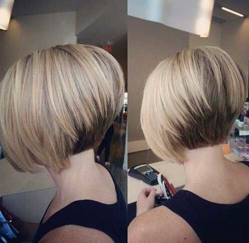 Stacked-Bob Brilliant Short Straight Hairstyles