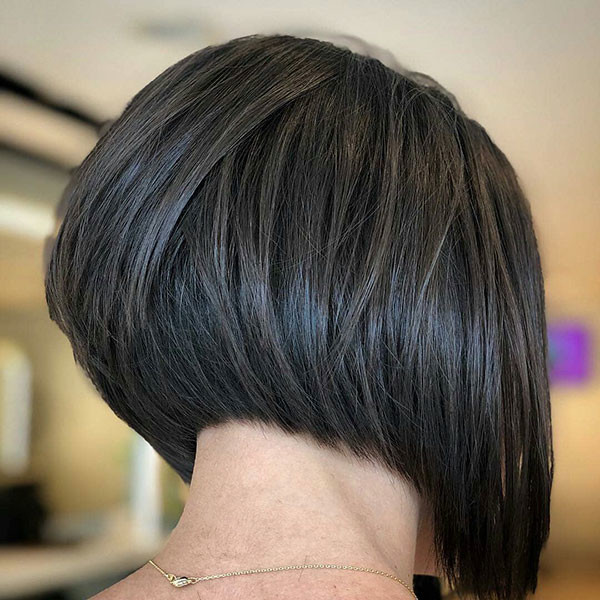 Stacked-Short-Bob-for-Thick-Hair Popular Bob Hairstyles 2019