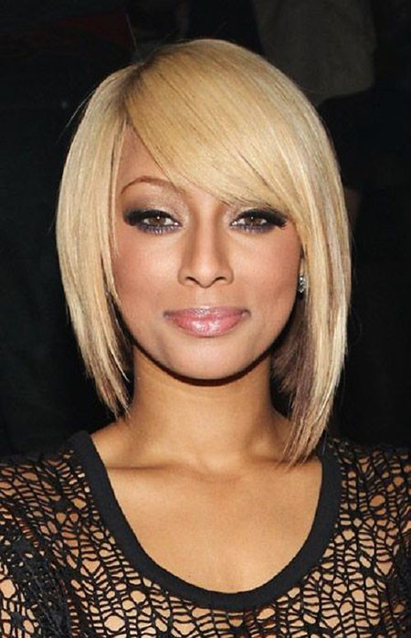 Straight-Blonde-Hair Keri Hilson Short Hairstyles