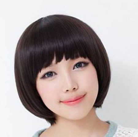 The-Cute-Japanese-Style-Bob-Hairstyle Popular Short Straight Hairstyles