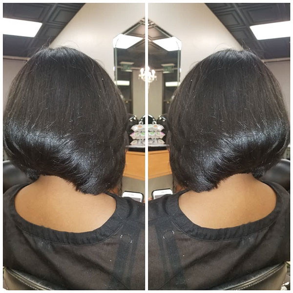 Thick-Straight-Hair Best Bob Hairstyles for Black Women Pictures in 2019
