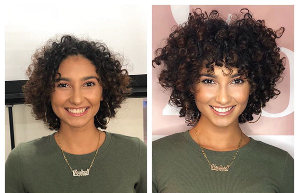 Thick-and-Frizzy-Curls Best Short Curly Hair Ideas in 2019