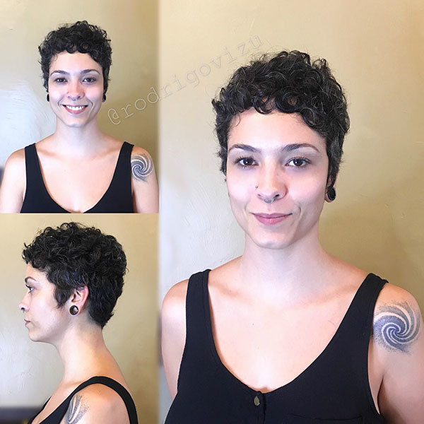 Very-Short-Curly-Hairstyle-2019 Best Short Curly Hair Ideas in 2019
