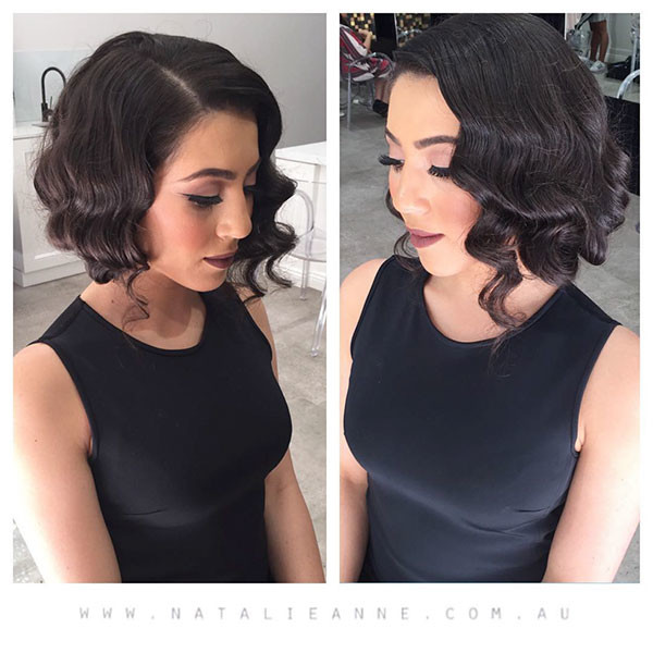Vintage-Bob-Hairstyle Wedding Hairstyles for Short Hair 2019