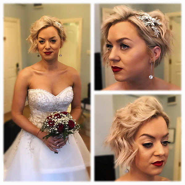 Wedding-Headpiece-for-Short-Hair Wedding Hairstyles for Short Hair 2019