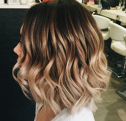 34-blonde-and-brown-short-hairstyles Beautiful Brown to Blonde Ombre Short Hair