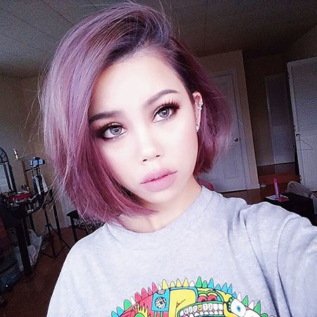Amazing-Purple New Bob Hairstyles 2019
