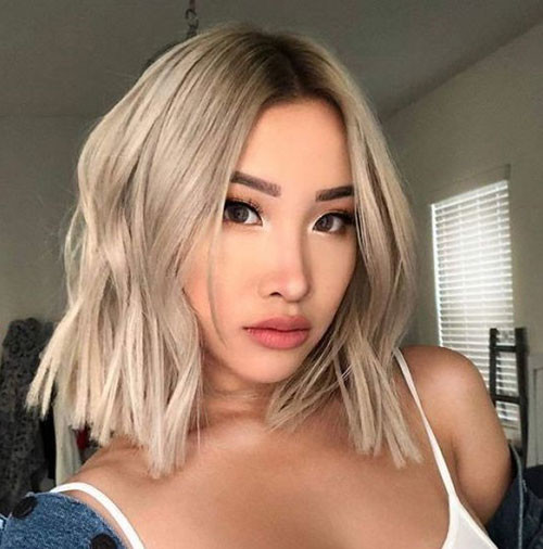 Ash-Blonde-Hair Latest Short Haircuts for Women 2019