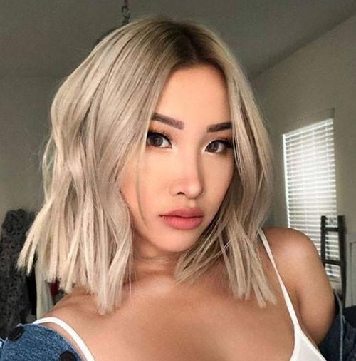 Ash-Blonde-Hair Latest Short Haircuts for Women 2019
