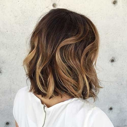 Beautiful-Wavy-Ombre-Bob-Hair-Back-View Beautiful Ombre Bob Hairstyles