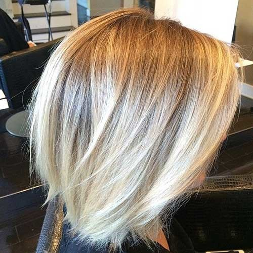 Blonde-Ombre-Bob-Hairstyle-Side-View Beautiful Ombre Bob Hairstyles