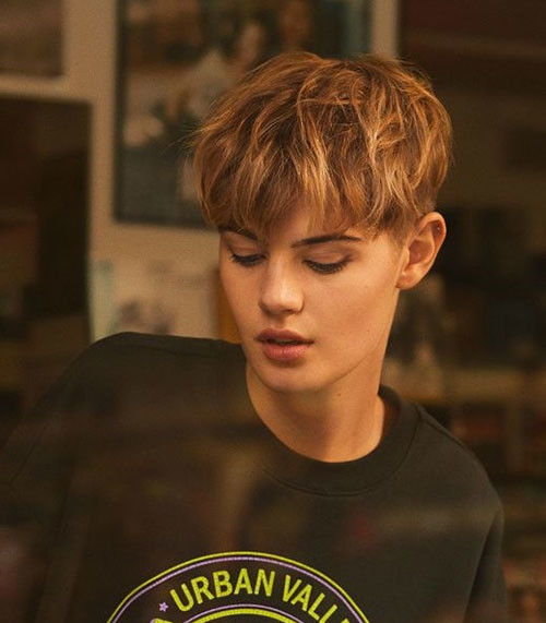 Boyish-Girl-Short-Haircut Latest Short Haircuts for Women 2019