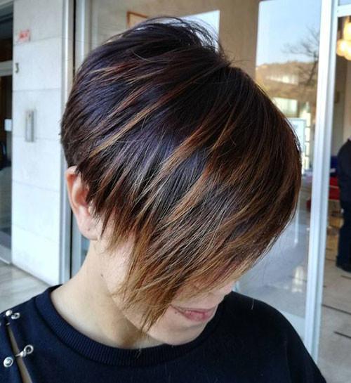 Brown-Lights Haircut Styles for Short Hair
