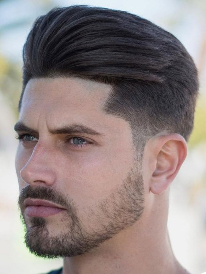 Brushed-up-and-Back-Undercut Stylish Undercut Hairstyle Variations in 2019: A Complete Guide