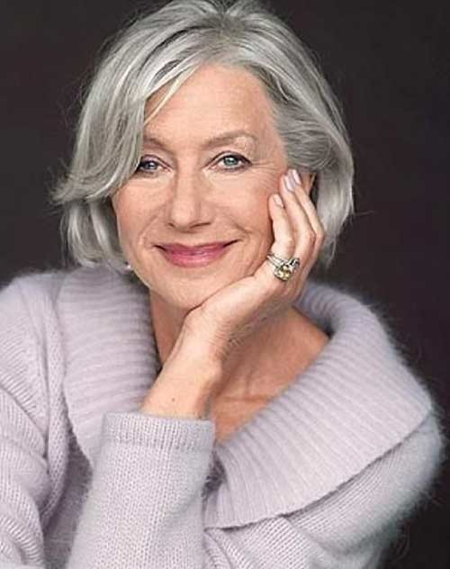 Casual-Grey-Hair-Cut-for-Women-Over-50 Short Hair Styles For Women Over 50
