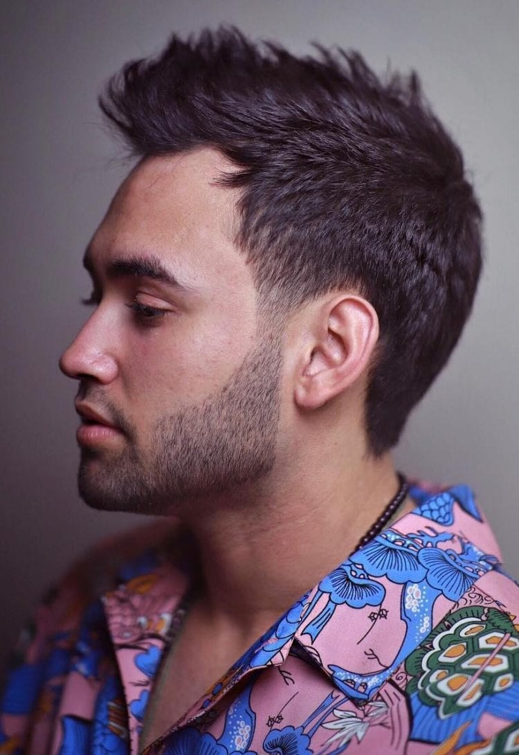Casual-Hand-Brush-Up Unique Haircut Designs for Men