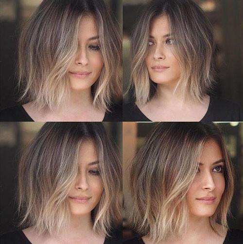 Choppy-Hair Beautiful Brown to Blonde Ombre Short Hair