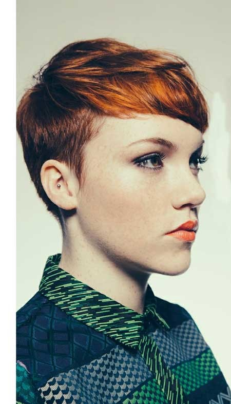 Choppy-Haircut-with-Longer-Front-and-Shorter-Sides Short Pixie Cuts for Women