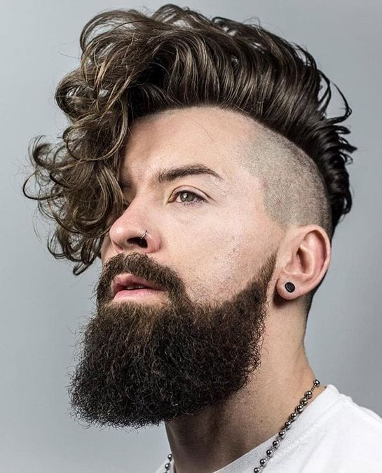 Curly-Fringe-Undercut Stylish Undercut Hairstyle Variations in 2019: A Complete Guide