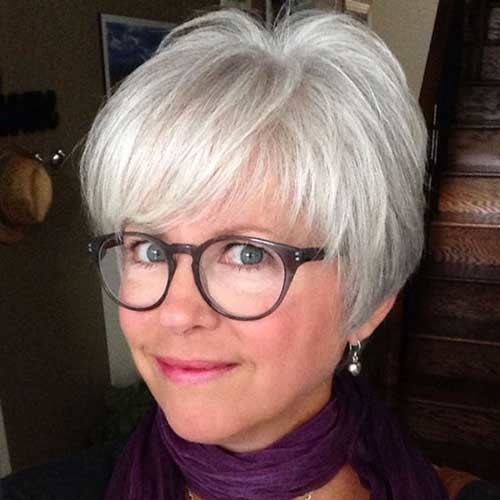 Cute-Bangs Short Haircuts for Older Women 2019