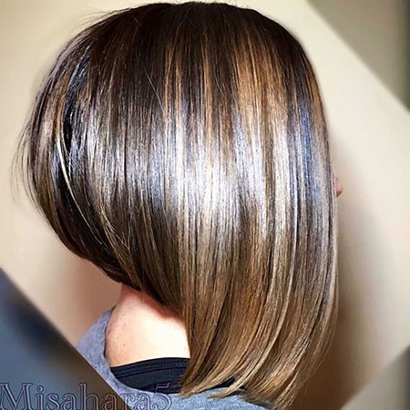 Dark-Balayage New Bob Hairstyles 2019