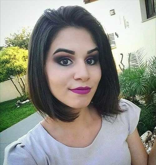 Dark-Bob-Hair New Cute Hairstyle Ideas for Short Hair