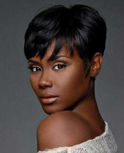 Dark-Pixie-Cut-Hair-for-Women Short Hairstyles for Dark Hair