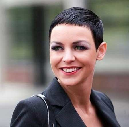 Extremely-Short-Simple-and-Straight-Haircut Short Pixie Cuts for Women