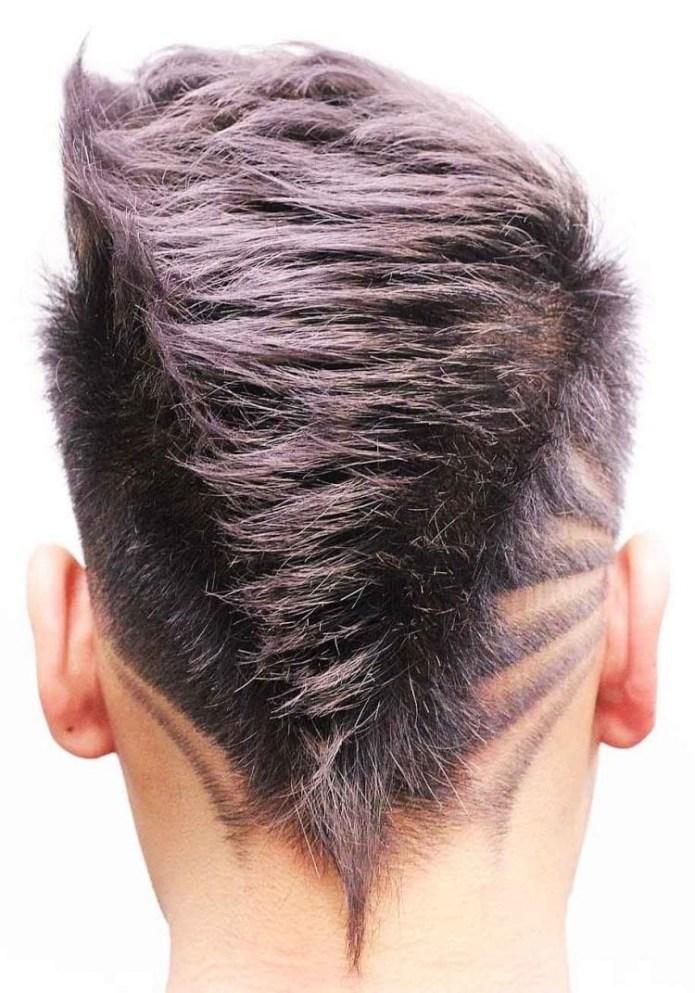Faded-Mohawk-Hair-Design-V-Shape Unique Haircut Designs for Men