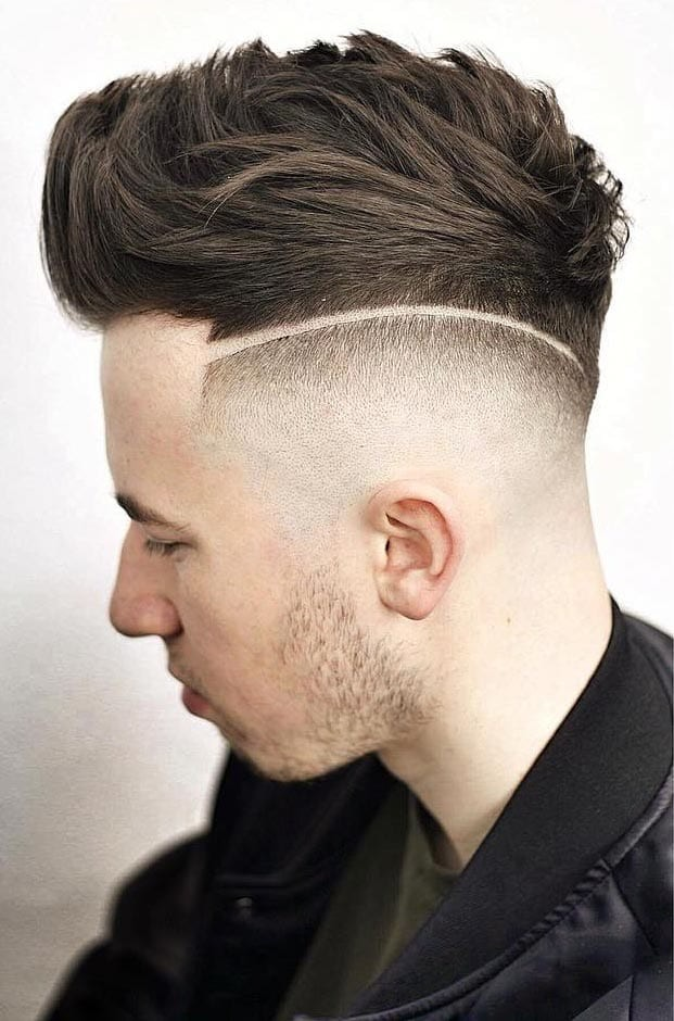 Faux-Hawk-with-Disconnected-High-Skin-Fade Stylish Undercut Hairstyle Variations in 2019: A Complete Guide