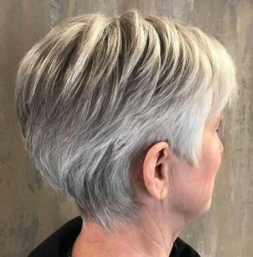 Fine-Long-Pixie Short Haircuts for Older Women 2019