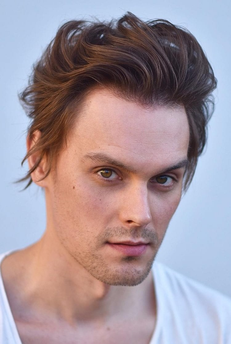 Flowy-Wavy-Blowout Selected Hairstyles for Men With Big Foreheads