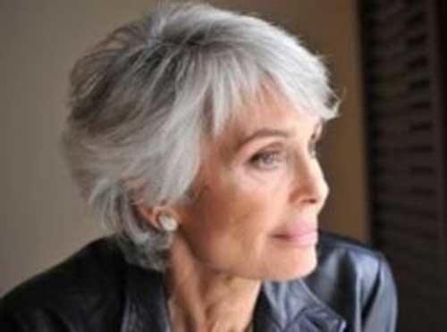 Grey-Short-Hair-Cut-for-Women-Over-50 Short Hair Styles For Women Over 50