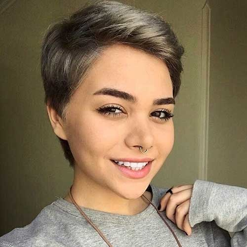 Happy-Gray-Pixie New Cute Hairstyle Ideas for Short Hair