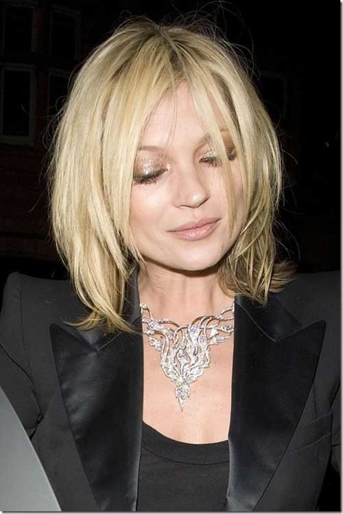 Kate-Moss-Messy-Hairstyle-for-Round-Faces Bob Cuts for Round Faces