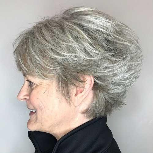 Layered-Short-Haircut Short Haircuts for Older Women 2019