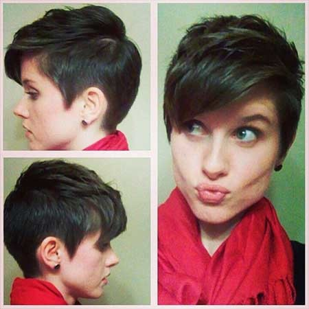 Layered-Side-Swept-Front-with-Shorter-Sides-Haircut Short Pixie Cuts for Women