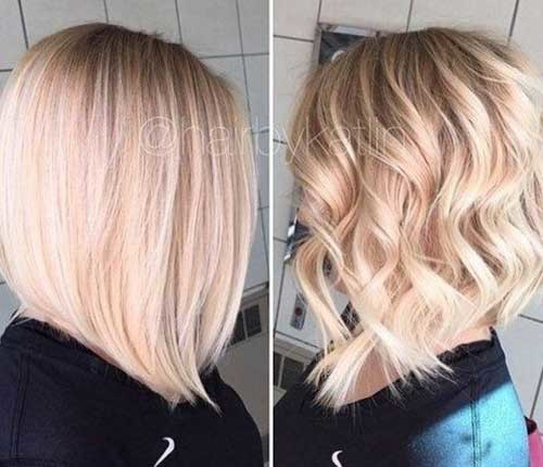 Long-Angled-Bob-Blonde Chic and Eye-Catching Bob Hairstyles