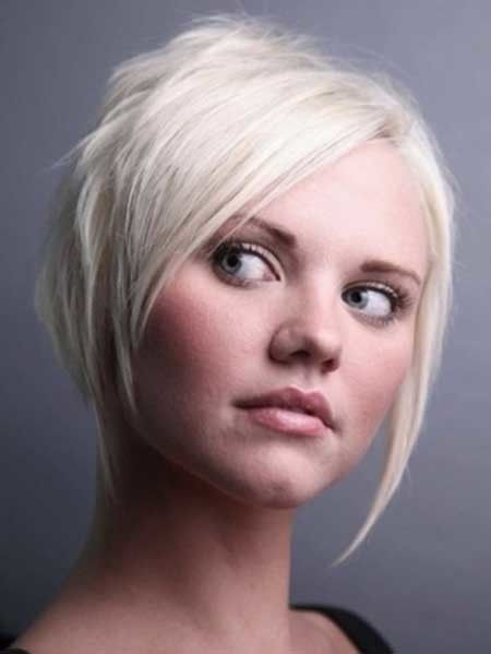 Longer-Bangs-Cut Short Cuts for Straight Hair