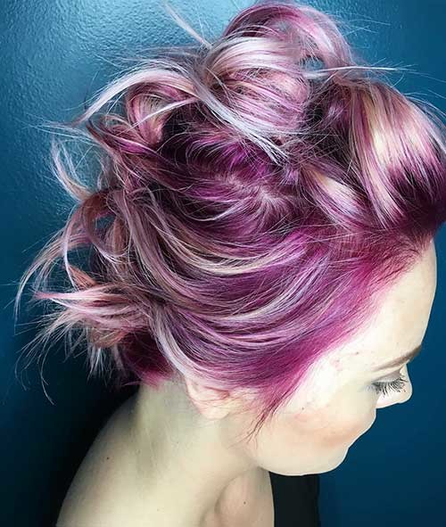 Mohawk-Inspired-Updo New Cute Hairstyle Ideas for Short Hair