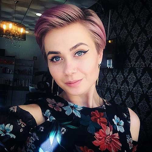 Pastel-Colored-Short-Hair New Cute Hairstyle Ideas for Short Hair