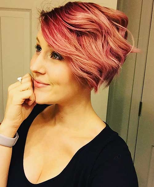 Pastel-Pink-Hairstyle New Cute Hairstyle Ideas for Short Hair