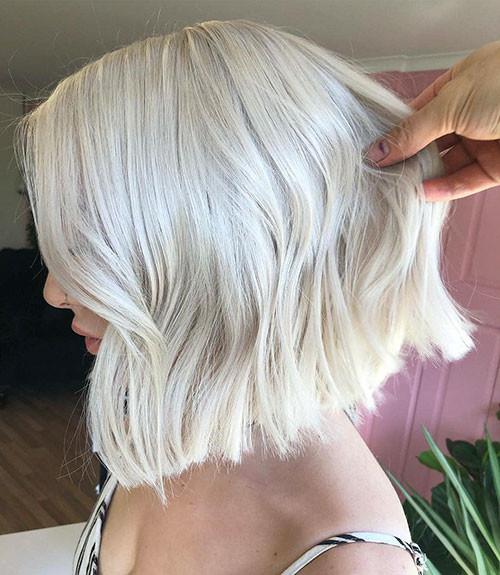 Platinum-Blonde-Bob Famous Blonde Bob Hair Ideas in 2019